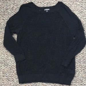 Express Black Knit Top